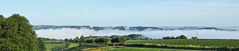 Stadt Overath vom Lölsberg aus gesehen