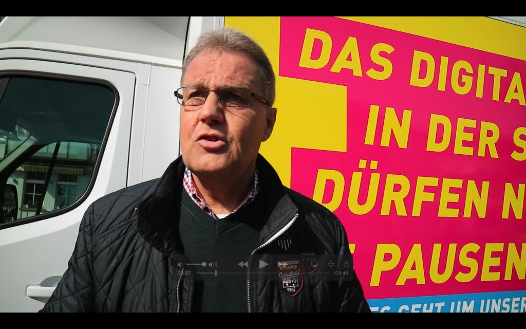 Peter Schwamborn im Wahlkampf 2018