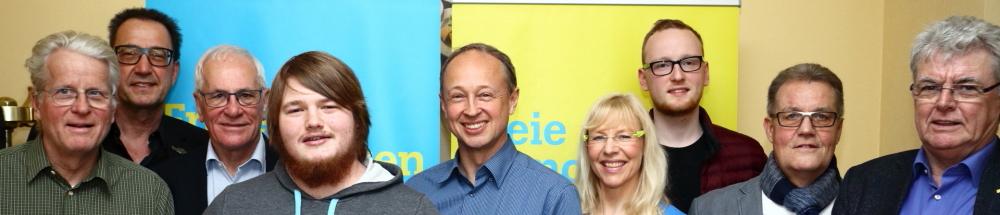 Vorstandsteam der FDP Overath beim Ortsparteitag 2020
