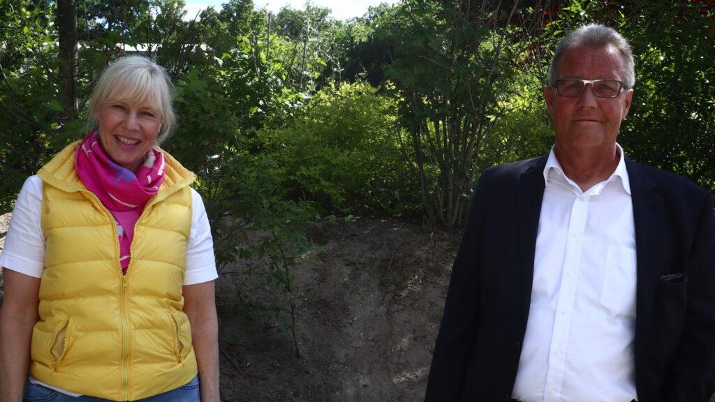 Petra Schaun-DeJong und Peter Schwamborn bei der FDP Wahlversammlung Kreis Rhein Berg 2020